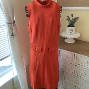 BANANA REPUBLIC Orange 70s Style Dress